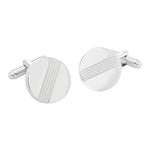 Darwin Brushed Rhodium | Metal Cufflinks - Duncan Walton Store