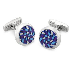 Feldspar Blue | Printed Surface Cufflinks