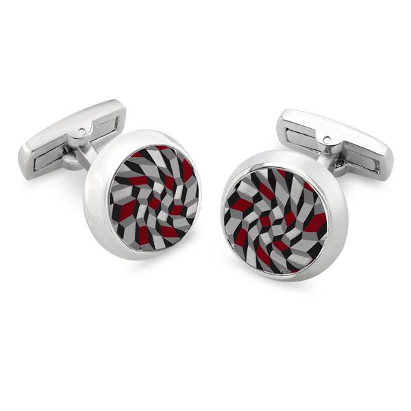 Feldspar Grey | Printed Surface Cufflinks - Duncan Walton Store