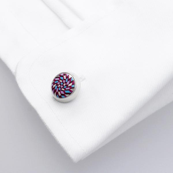 Feldspar Purple | Printed Surface Cufflinks - Duncan Walton Store