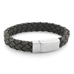 Foster Grey| Leather and Steel Bracelet - Duncan Walton Store