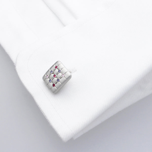 Friston Purples | Swarovski® Crystals  Cufflinks