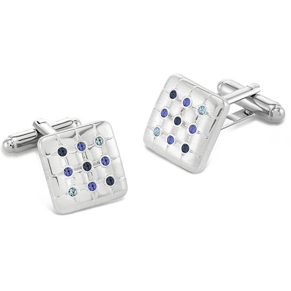 Friston Blues | Swarovski® Crystals Cufflinks