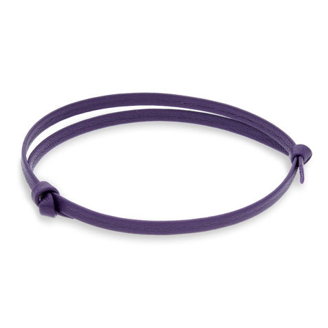 Gigi Purple | Leather Bracelet - Duncan Walton Store