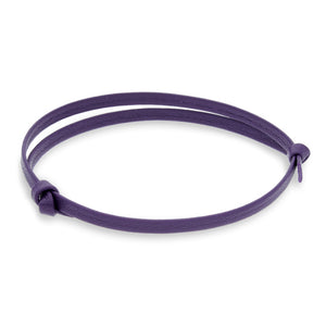 Gigi Purple | Leather Bracelet