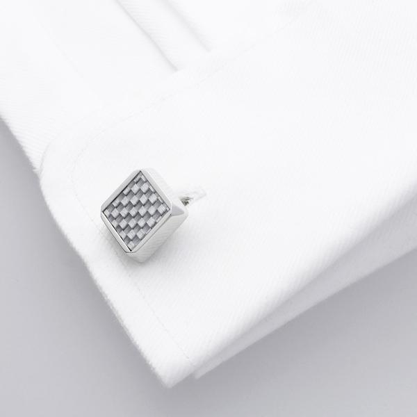 Hart White | Carbon Fibre Cufflinks