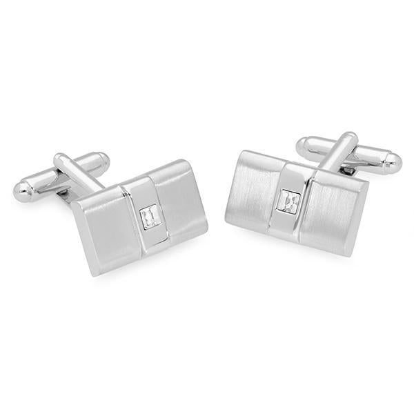 Ive Metal Swarovski® Crystal Cufflinks