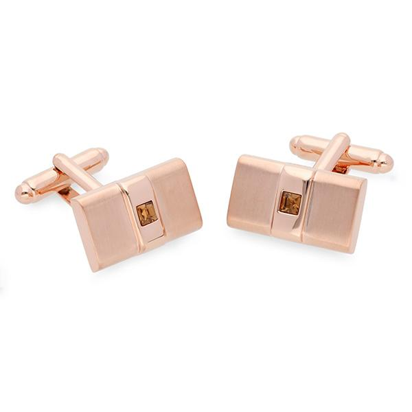 Ive Rose Gold Swarovski® Crystal Cufflinks