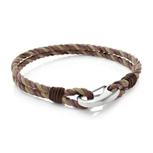 Judd Brown |Leather, Waxed Cotton and Steel  Bracelet - Duncan Walton Store