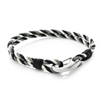 Judd Black |Leather, Waxed Cotton and Steel  Bracelet - Duncan Walton Store