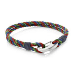 Judd Multi |Leather, Waxed Cotton and Steel  Bracelet - Duncan Walton Store