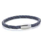 Kasper Navy | Braided Leather and Steel Bracelet