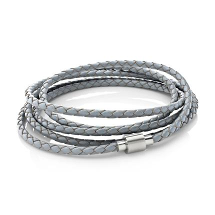 Koi Grey | Leather and Steel Bracelet - Duncan Walton Store