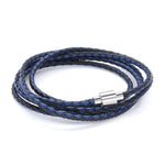 Koi Blue | Leather and Steel Bracelet - Duncan Walton Store