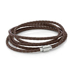 Koi Brown | Leather and Steel Bracelet - Duncan Walton Store