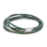 Koi Green | Leather and Steel Bracelet - Duncan Walton Store