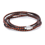 Koi Tan | Leather and Steel Bracelet - Duncan Walton Store