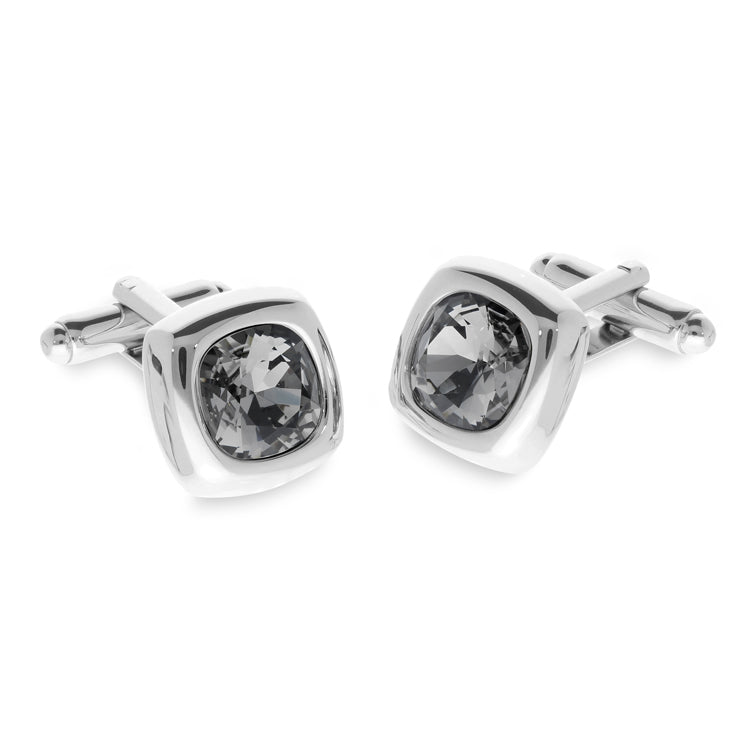 Krista Black Diamond | Swarovski® Crystal Cufflinks