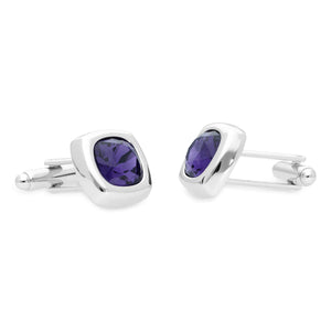 Krista Purple | Swarovski® Crystal Cufflinks