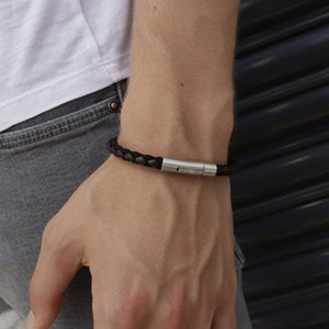 Marco Brown | Leather and Steel Bracelet - Duncan Walton Store