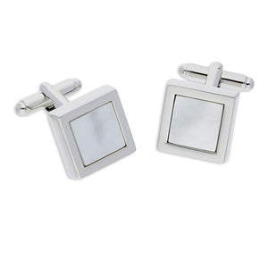 Mensa Mother of Pearl | Semi Precious Cufflinks - Duncan Walton Store