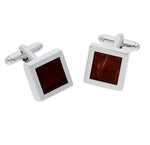 Mensa Red Tiger Eye | Semi Precious Cufflinks - Duncan Walton Store