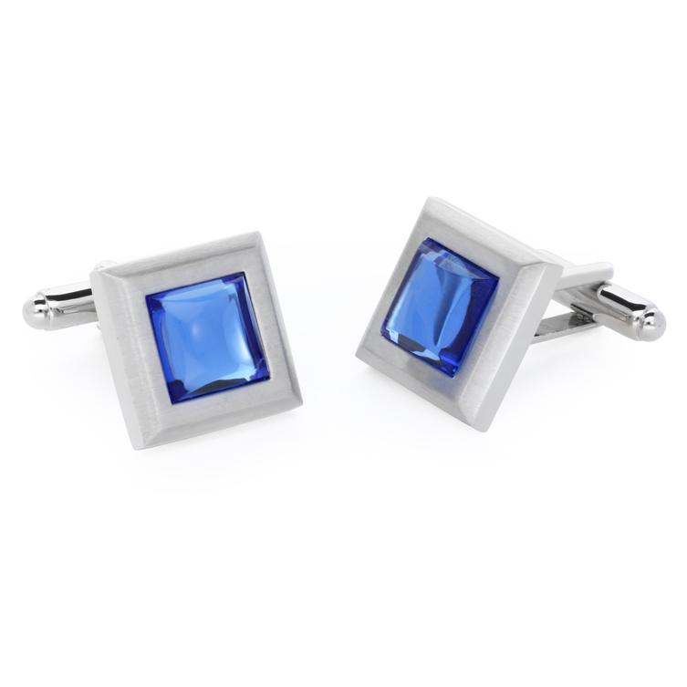 Mika Blue | Cat's Eye | Gemstone Cufflinks - Duncan Walton Store