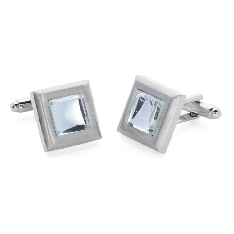 Mika Clear | Cat's Eye | Gemstone Cufflinks
