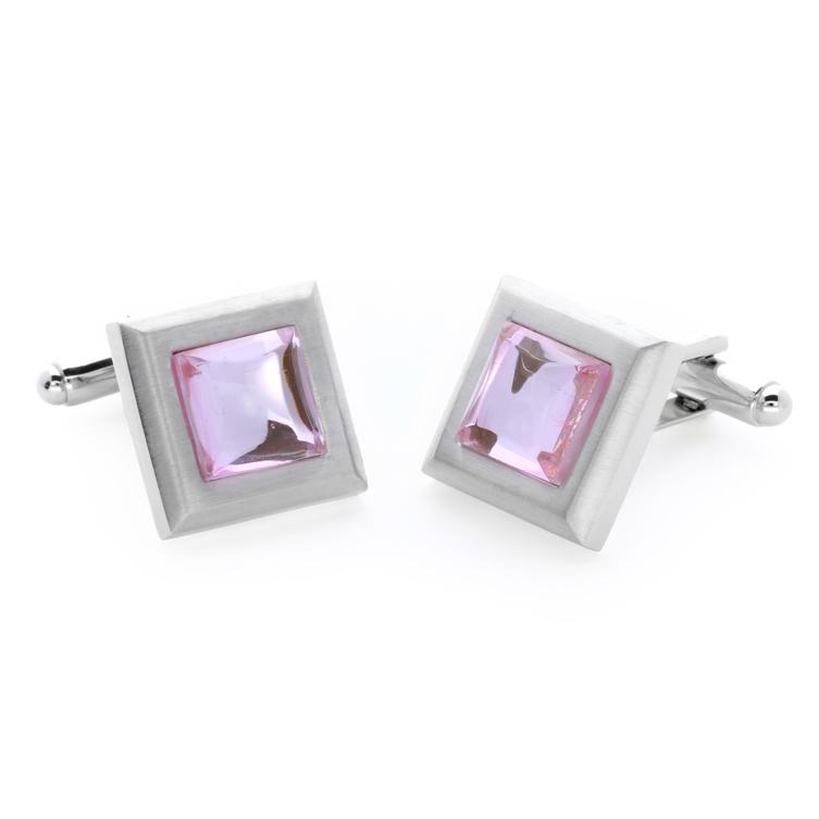 Mika Pink | Cat's Eye | Gemstone Cufflinks