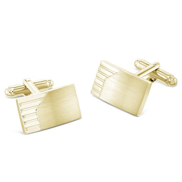 Morfe Brushed Gold | Metal Cufflinks - Duncan Walton Store