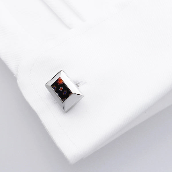 Muran Black | Glass Cufflinks - Duncan Walton Store