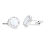 Norm | Mother of Pearl | Semi Precious Stone Cufflinks - Duncan Walton Store