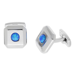 Opal Blue | Synthetic Opal Cufflinks