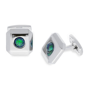 Opal Green | Synthetic Opal Cufflinks