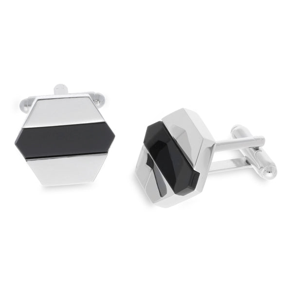 Perth Black | Onyx Semi Precious | Cufflinks