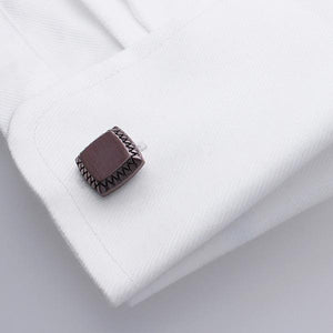 Pillowed Square Cufflinks in Chocolate Coloured Plating