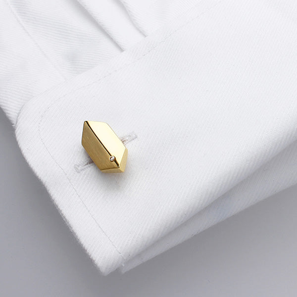 Genuine Diamond Set Gold Cufflinks