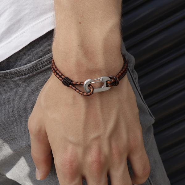 Ruskin Brown | Braided Leather Bracelet - Duncan Walton Store