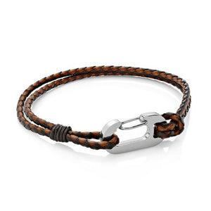 Ruskin Brown | Braided Leather Bracelet