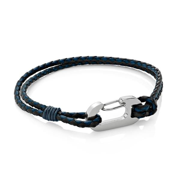 Ruskin Blue| Braided Leather Bracelet - Duncan Walton Store