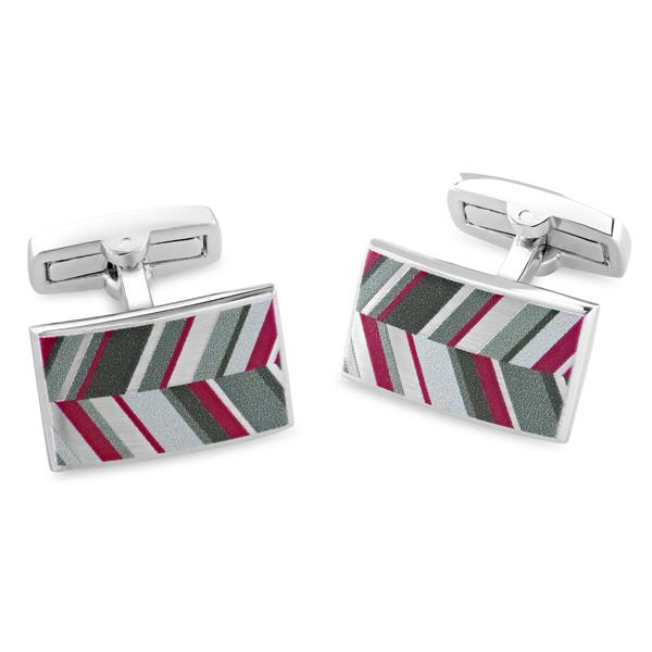 Russet Grey | Printed Surface Cufflinks