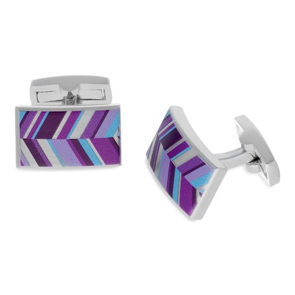 Russet Purple | Printed Surface Cufflinks - Duncan Walton Store