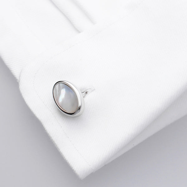 Sirocco | Mother of Pearl | Semi Precious Stone Cufflinks - Duncan Walton Store