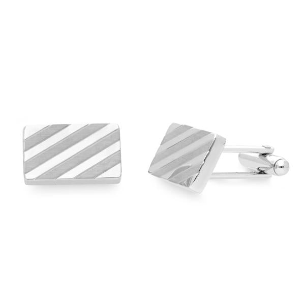 Tech Rhodium | Metal Cufflinks