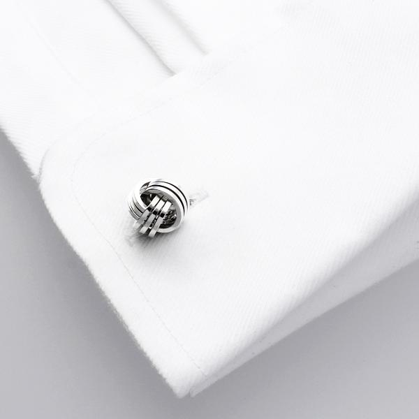 Trip Rhodium | Metal Cufflinks