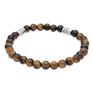 Duncan Walton Wanders Tiger Eye Beaded Bracelet is a stunning accessory that works well with any attire.