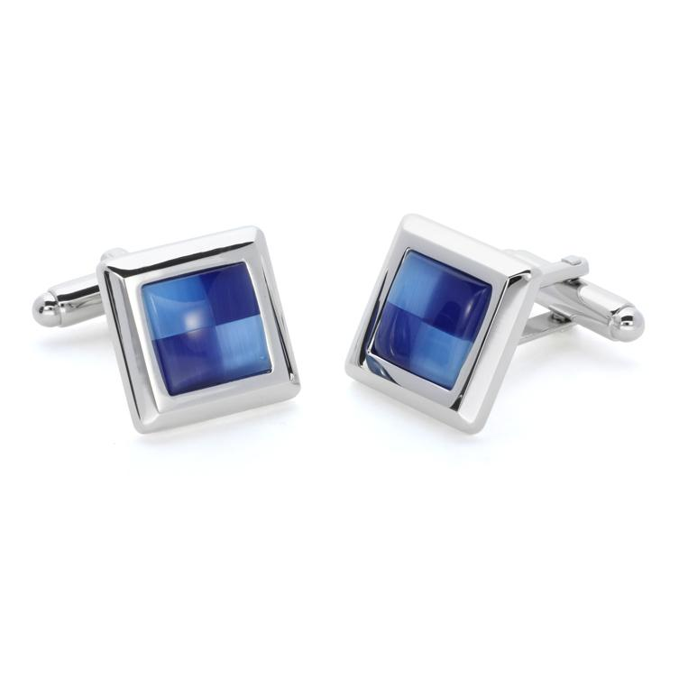 Wilda Clear | Cat's Eye | Gemstone Cufflinks