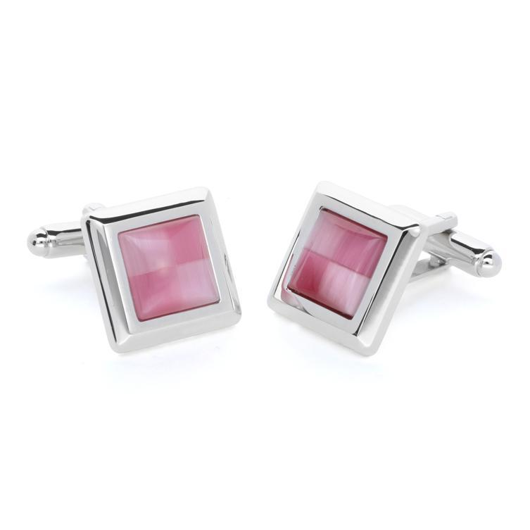 Wilda Pink | Cat's Eye | Gemstone Cufflinks