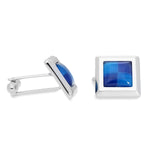 Wilda Clear | Cat's Eye | Gemstone Cufflinks - Duncan Walton Store