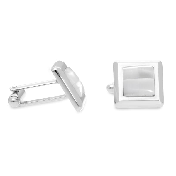 Wilda White | Cat's Eye | Gemstone Cufflinks